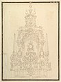 Elevation of a Catafalque- Obelisks at the Corners and One in Center MET DP820182.jpg