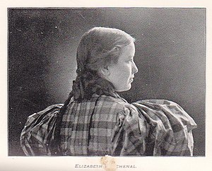 Elizabeth Burchenal - from the Earlham College yearbook, class of 1896