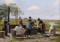 Emilie Mundt - Kvinder vasker tøj ved en brønd - 1880.png
