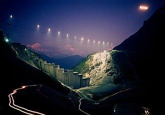 Lac d'Émosson - Image: Emosson Construction
