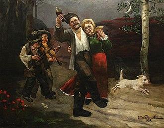 Octav Băncilă - Image: End of Leave by Octav Băncilă 1898