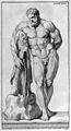 Engraving of a statue of Hercules (in Farnese Palace), 1721 Wellcome M0018007.jpg
