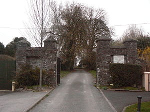 Dunshaughlin - Entrance to Saint Seachnall's Church of Ireland, site of the village's original ecclesiastical foundation in the fifth century AD.