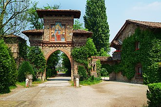 Visconti di Modrone - The entrance to Grazzano Visconti