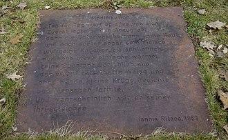 "Yiannis Ritsos - Sculpture ""Prisoner Stones 1"" (1974) by Hans-Jürgen Breuste in Erlangen. Featuring a Yannis Ritsos' poem."