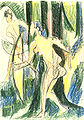 Ernst Ludwig Kirchner - Bogenschießende Mädchen im Wald - ca 1934.jpg