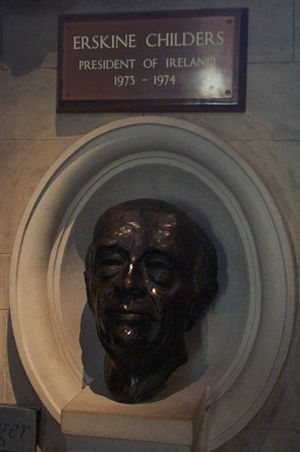 Erskine Hamilton Childers - Memorial to Erskine Childers in St Patrick's Cathedral