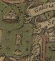 Escudo da Galiza no portolano Paskaarte vertonende alle de zekusten Europe (c. 1660).jpg