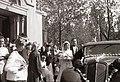 Eskűvői kép 1942-ben Jézus Szíve templomnál. Fortepan 14742.jpg