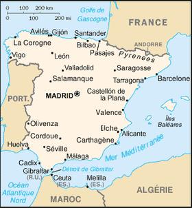 Géographie de l'Espagne — Wikipédia