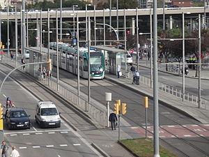 Glòries station - Image: Estació Glòries del Trambesòs vista des de Encants Barcelona