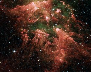 Eta Carinae nebula in infrared by Spitzer Telescope