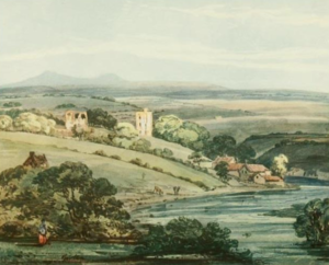 Etal Castle - Thomas Girtin's 1797 painting of the castle