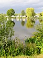 Evening sun on the lake at Yarwell Mill caravan park - June 2013 - panoramio.jpg