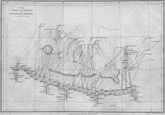 1921 British Mount Everest reconnaissance expedition - 1858 triangulation of Mount Everest