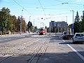 Evropská, tramvaj v zastávce Vozovna Vokovice.jpg