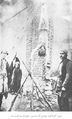 Execution of Mirzaaghabalakhan by Shojaodowlat forces, Russian Occupation of Tabriz, 1911.png