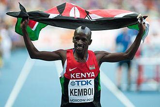 Ezekiel Kemboi - Kemboi at the 2013 World Championships in Athletics