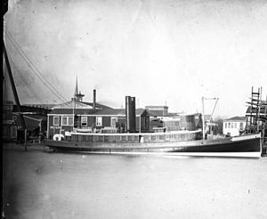 Fireboats of New York City - Image: FDNY fireboat Zophar Mills in 1882