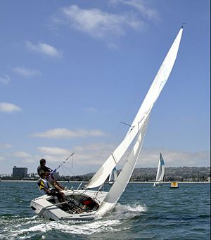 Flying Dutchman (dinghy) - FD USA 1488 a 1990 MADER Composite construction modern Flying Dutchman