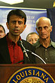FEMA - 37788 - Governor Bibby Jindal and DHS Secretary Chertoff at press event in Louisiana.jpg