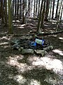 FLT M09 2.71 mi - Bivouac area in woods at west side of pond dam - panoramio.jpg