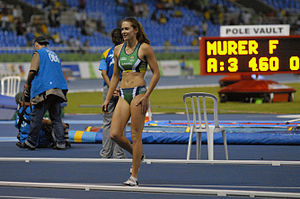 2009 South American Championships in Athletics - Fabiana Murer (above) set a new pole vault record.