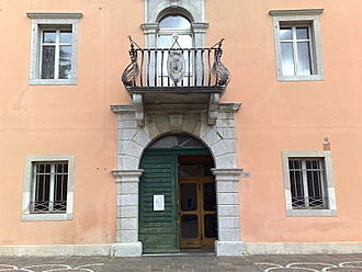 Farra d'Isonzo - The facade of the Palazzo Municipale in Farra d'Isonzo.