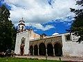 Fachada del Templo y Capilla abierta del Antiguo Convento de San Miguel Arcángel (Hoy Museo Virreinal).jpg