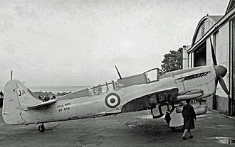 RNAS Stretton (HMS Blackcap) - Fairey Firefly T.3 of 1841 Squadron in September 1952
