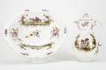 Fajans, kanna med lock och fat, 1700-tal - Hallwylska museet - 90485.tif
