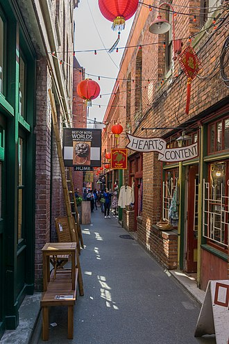 Chinatown, Victoria - Chinatown is presently a popular area for tourists, consisting of several historical sites, including Fan Tan Alley.