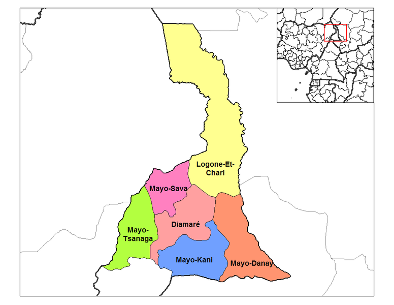 Fichier:Far North Cameroon divisions.png