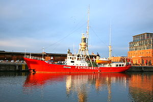 Fehmarnbelt Lightship - Fehmarnbelt in the Media Docks on the northern part of the Wall peninsula