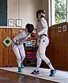Fencing. Epee. Fencing at Athenaikos Fencing Club with fencers from other clubs.jpg