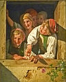 Ferdinand Georg Waldmüller - Children at the window.JPG