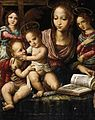Fernando Llanos - Virgin and Child with the Infant St John the Baptist, Attended by Angels - WGA13337.jpg