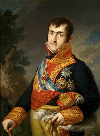 La succession du roi d'Espagne (1833) 338px-Fernando_VII_-_Vicente_L%C3%B3pez