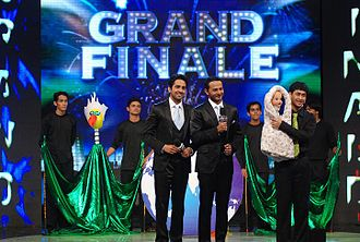Satyajit Padhye - Satyajit Padhye along with his puppets in the Grand Finale of India's Got Talent