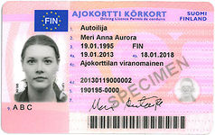 Finnish driver's licence, front.jpg
