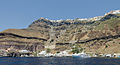Fira and crater rim seen from the caldera - Santorini - Greece - 03.jpg