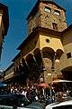 Firenze - Florence - Via de' Guicciardini - View NE on Ponte Vecchio 1345 & the Vasari Corridor 1564, linking Palazzo Vecchio with Palazzo Pitti.jpg