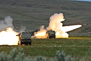 Firing High Mobility Artillery Rocket systems