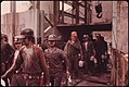 First Shift of Miners at the Virginia-Pocahontas Coal Company Mine -4 near Richlands, Virginia, Leaving the Elevator 04-1974 (3907192448).jpg