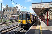 First TransPennine Express Class 350, 350402, Lancaster railway station (geograph 4499798).jpg