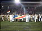 Flag bearers proceeding for Flag Hoist on Seychelles' National Day 2015.jpg