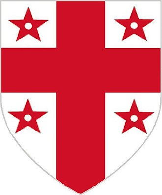 Thomas Flamank - Flamank of Boscarne:- argent, a cross between four mullets pierced gules