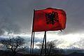 Flamuri shqiptar në fshatërat shqipëtare të veriut të Kosovës.JPG
