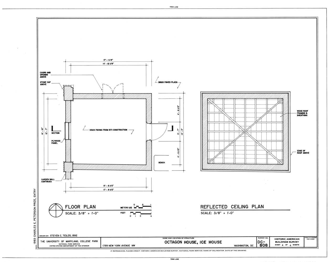 File floor plan and reflection ceiling plan octagon for Floor sheet for office