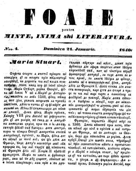 File:Foaie pentru minte, inima si literatura, Nr. 4, Anul 1840.pdf